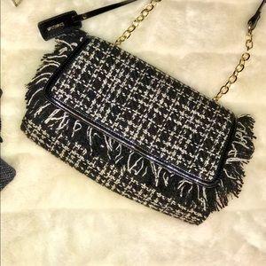 Bebe black/cream houndstooth purse!🛍💕
